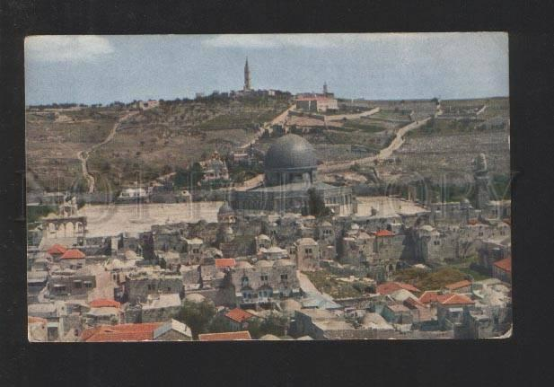 077920 JERUSALEM Temple place w/ rock mosque back mount olives