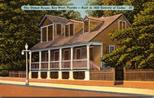 Florida Key West The Oldest House Built 1825 Entirely Of Cedar 1955