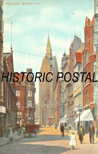 HANNOVER GERMANY~MARKTKIRCHE~1907 POSTCARD