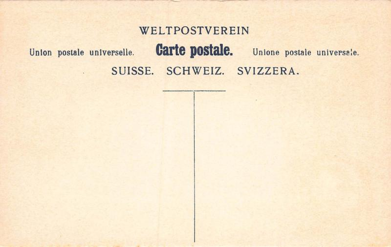 Switzerland, Classic Stamps in Actual Colors, Early Postcard, Unused
