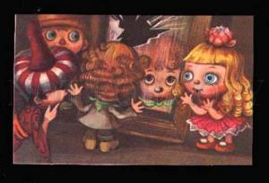 007178 Charming GNOME Elf MIRROR Old Fairy Tale Russian card