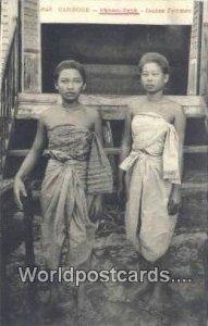Jeunes Femmes Camboge, Phnom, Penh Cambodia, Cambodge Unused
