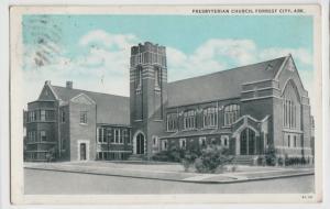 1937 FORREST CITY Arkansas AR Postcard PRESBYTERIAN CHURCH