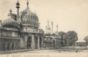 BRIGHTON , England , 1900-10s ; Pavilion from the Lawn