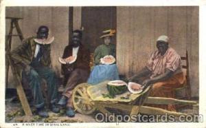 Black Blacks Postcard Post Card