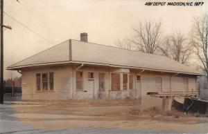 Madison North Carolina AY Railroad Depot Real Photo Vintage Postcard K105825