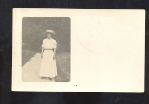 RPPC KIRKSVILLE MISSOURI PRETTY WOMAN HENDRICKS JASPER MO REAL PHOTO POSTCARD