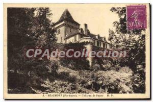 Postcard Old Beaumont ch?teau de bayac