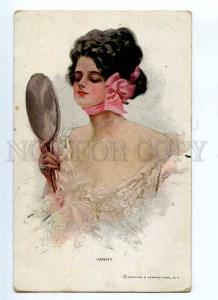 245271 Vanity Lady MIRROR by Harrison FISHER vintage R&N #1003