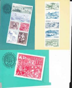 Sweden -  Post Office Issued Post Cards Showing Their Stamps