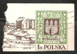 Poland Postal Card Used Corner Castle