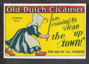 Old Dutch Cleanser Trade Card Reproduction Postcard BIN