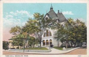 Massachusetts Brookline Town Hall 1930