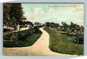 Kansas City MO-Missouri, Scene In Fairmount Park, Vintage c1909 Postcard