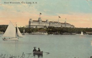 NEW CASTLE, New Hampshire, PU-1912; Hotel Wentworth, Sail Boat