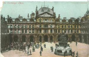 The Exchange Flags, Liverpool, 1909 used Postcard