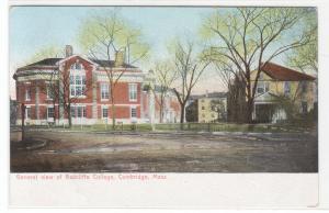 Radcliffe Womens College Harvard University Cambridge MA 1907c postcard