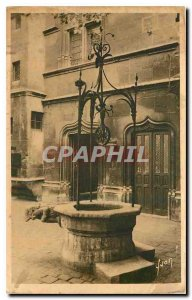 Old Postcard Paris Strolling the Musee Cluny Vieux Puits XV S
