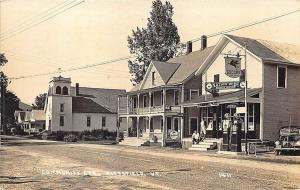 Pittsfield VT Post Office Mobil Gas Pumps General Store RPPC Postcard