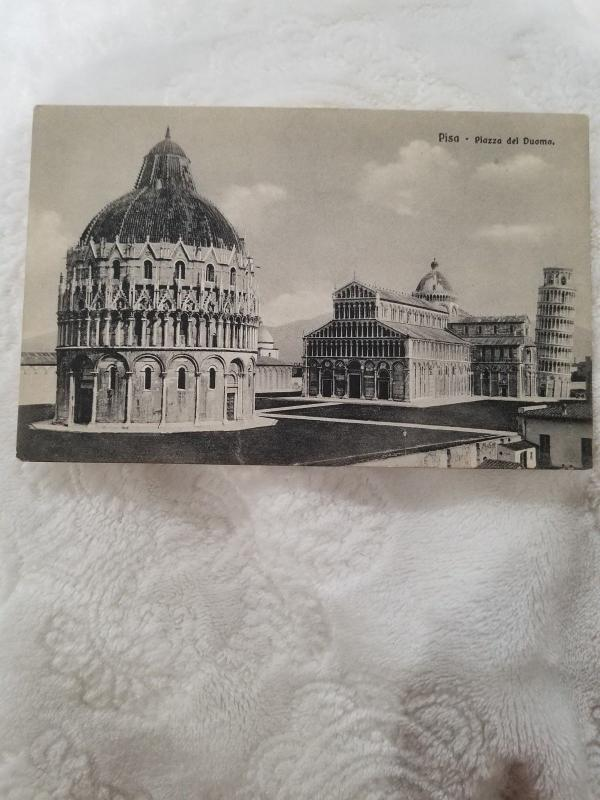 Antique Postcard from Italy, Pisa - Piazza del Duomo