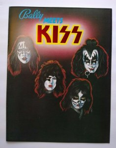 Kiss Pinball FLYER Original Bally 1979 Foldout Artwork Sheet Rock And Roll Music