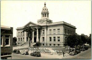 Martinez, California RPPC Photo Postcard CONTRA COSTA COUNTY COURT HOUSE c1940s