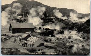 Rotorua, New Zealand Postcard Whakarewarewa Geothermal Geysers View Unused