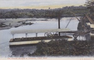 PANAMA, 1900-1910's; Old French Dredges At Gorgona, Canal Zone