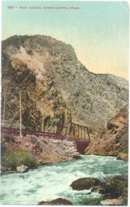 D/B Union Pacific First Bridge Ogden Canyon Utah UT