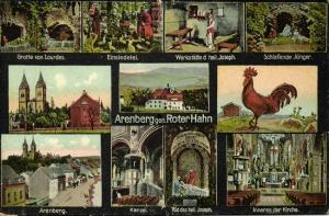 germany, ARENBERG, Multiview, Gasthaus Hotel Roter Hahn, Kloster, Kirche (1910s)