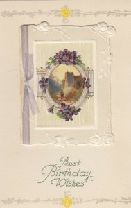 WINSCH ; Birthday Booklet Postcard , Country Scene & Flowers, 00-10s