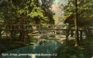 NY - Rochester. Genesee Valley Park, Rustic Bridge