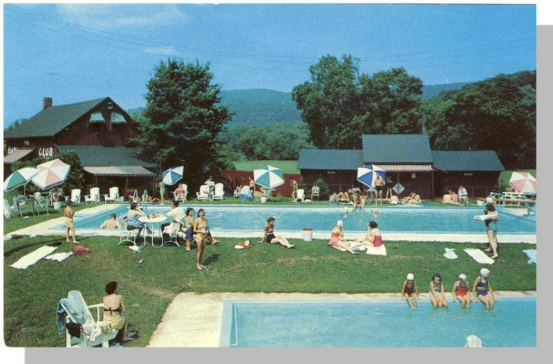 Great Barrington, Mass/MA Postcard, Barn Club Swimming Pools