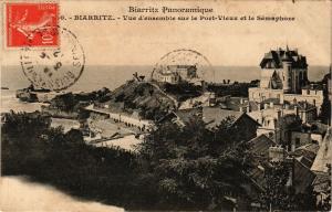 CPA BIARRITZ - Vue d'ensemble sur le Pont Vieux et le Semaphore (162879)