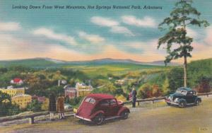 Arkansas Hot Springs Looking Down From West Mountain
