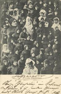 chile, Flores Chilenas, Beautiful Women (1903)
