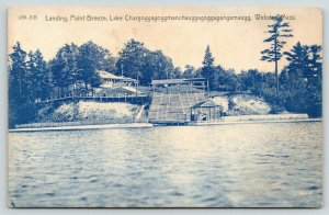 Webster Massachusetts~Lake Chaubunagungamaug~Point Breeze Boat Landing~c1905