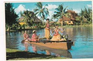 Polynesian Cultural Center, LAIE, Oahu, Hawaii, 50-70s ; Canoe