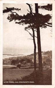 Lyme Regis from Charmouth Road Sepia Gloss 1918