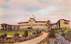 Pasadena California~The Huntington Hotel & Bungalows~1954 Postcard