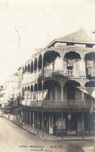 RP: NEW ORLEANS, Louisiana, 1941 ; Lace Balcony