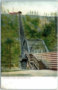 Johnstown, Pennsylvania Postcard INCLINE PLANE Funicular Railway c1900s UNUSED