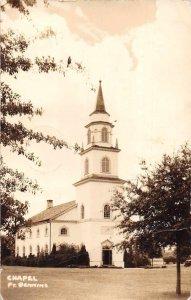 Fort Benning Georgia Chapel Real Photo Vintage Postcard AA1769