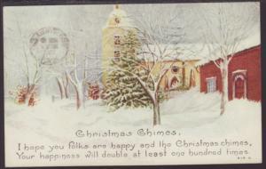 Christmas Chimes,Church Postcard