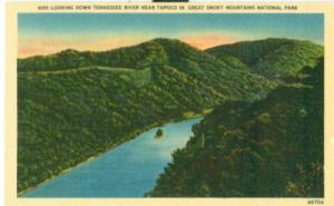 Looking down Tennessee River near Tapoco, Great Smoky Mou...