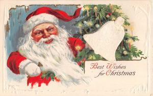 E30/ Santa Claus Merry Christmas Holiday Postcard c1910 Add On Bell Tree 14