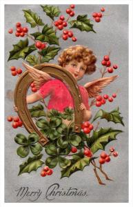 6267    Christmas   Cherub, Horseshoe