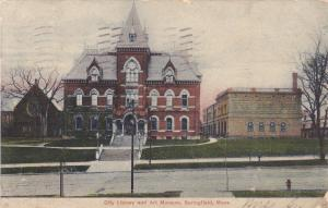 SPRINGFIELD , Massachusetts,PU-1907 ; City Library and Art Museum