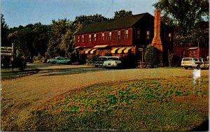 Old Deerfield MA rte 3 410 Fab Cars Vtg Postcard