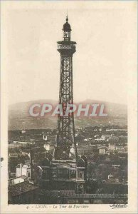 Old Postcard Lyon Tower of Fourviere
